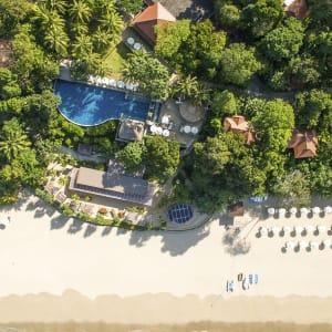 Ayutthaya & Mae Klong ab Bangkok: beach: Thailand Pimalai Resort & Spa Strand Luftaufnahme