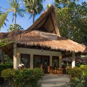 Alam Anda Ocean Front Resort & Spa in Ost-Bali | Sidemen:  Alam Anda Ocean Front Resort and Spa Garten Bungalow