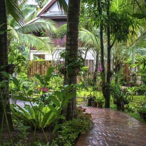Maison Dalabua in Luang Prabang:  Luang Prabang Maison Dalabua Garten