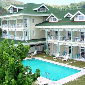 Palm Beach Hotel in Praslin:  Seychellen Palm Beach Hotel