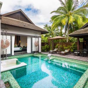 Ayutthaya & Mae Klong ab Bangkok: exterior: Thailand Anantara Mai Khao Phuket Villa Pool