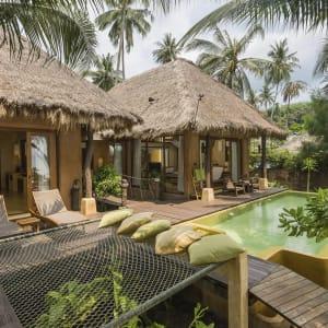 Ayutthaya & Mae Klong ab Bangkok: exterior: Thailand High Season Pool Villa and Spa Beachfront Pool Villa