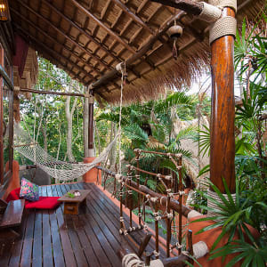 Ayutthaya & Mae Klong ab Bangkok: exterior: Thailand Ko Tao Cabana Cottage