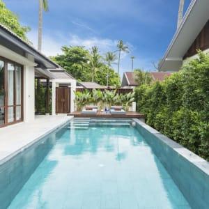 Ayutthaya & Mae Klong ab Bangkok: exterior: Thailand Peace Resort Seabreeze Poolblick