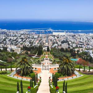 Israel entdecken ab Tel Aviv: Israel Haifa Bahai Gärten und Hafen