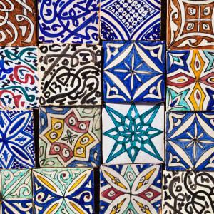 Höhepunkte Marokkos ab Casablanca: Marokkanische Fliesen