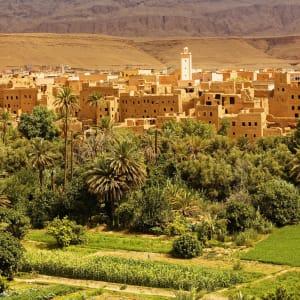 Auf den Straßen und Pisten des Königreichs ab Marrakesch: Marokko Ouarzazate Panorama