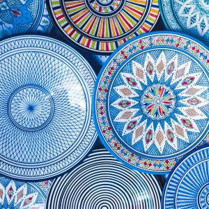 Königsstädte & Küste im Mietwagen ab Casablanca: Marokko Traditionelle Teller