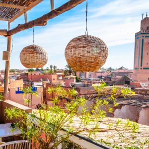 Südmarokko - Atlas & Wüste ab Marrakesch: Marrakesch Cafe