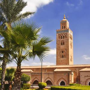 Königsstädte & Küste im Mietwagen ab Casablanca: Marrakesch Koutoubia Moschee