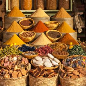 Auf den Straßen und Pisten des Königreichs ab Marrakesch: Marrakesch Souk Gewürze