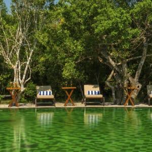 Uga Chena Huts in Yala National Park:  Sri Lanka Chena Huts Pool