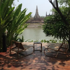 IUDIA on the River in Zentralthailand:  Ayutthaya iuDia A Boutique Hotel On The River Suite Balkon