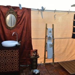 Canvas Club in Wüste:  Oman Canvas Club Badezimmer