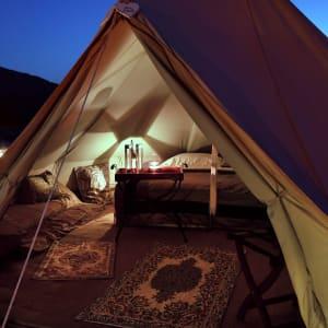 Canvas Club in Wüste:  Oman Canvas Club Wohnbeispiel