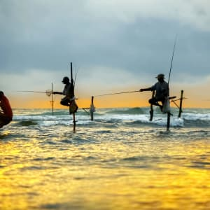 Familienabenteuer Sri Lanka ab Colombo: Sri Lanka Traditionelle Fischer