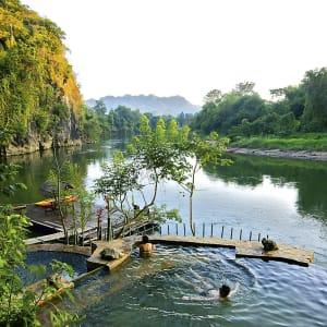 Soft Adventure River Kwai ab Bangkok: Thailand Kanchanaburi Hintok River Camp