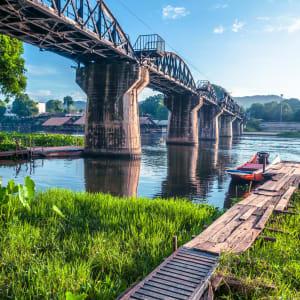 Soft Adventure River Kwai ab Bangkok: Thailand Kanchanaburi River Kwai Bruecke