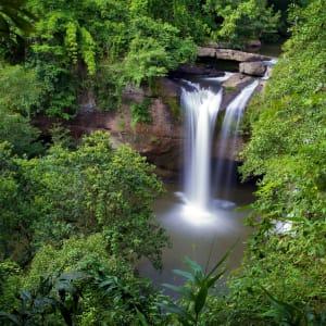 Isan und Süd-Laos ab Bangkok: Thailand Khao Yai Nationalpark Wasserfall