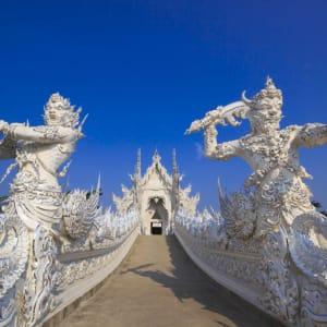 Von Nord-Thailand nach Laos auf dem Mekong ab Chiang Mai: Thailand Nordthailand Chiang Rai Wat Rong Khun