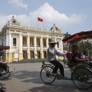Höhepunkte Vietnams ab Hanoi: Vietnam Hanoi Rikscha