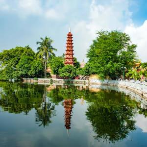 Höhepunkte Vietnams ab Hanoi: Vietnam Hanoi Tran Quoc Pagode