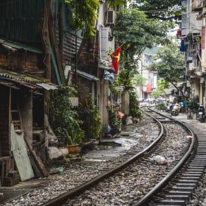 Vietnam Individuell mit dem Zug ab Hanoi: Vietnam Hanoi Zuggleise