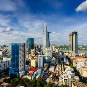 Höhepunkte Vietnams ab Hanoi: Vietnam Saigon Skyline