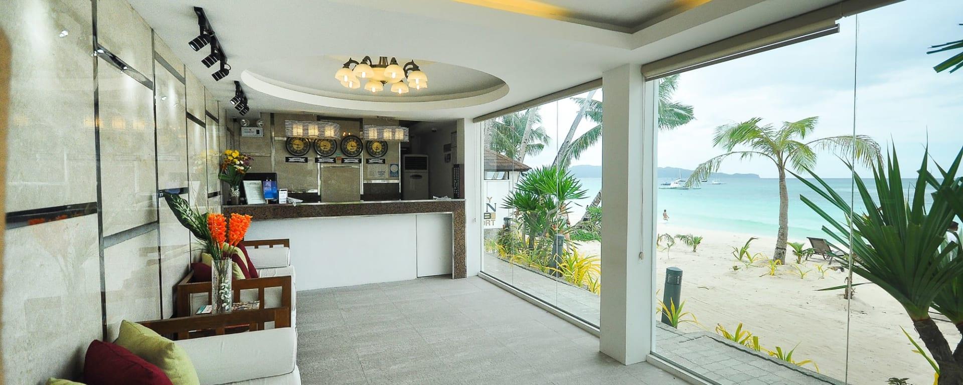 Boracay Ocean Club: Boracay Ocean Club Rezeption