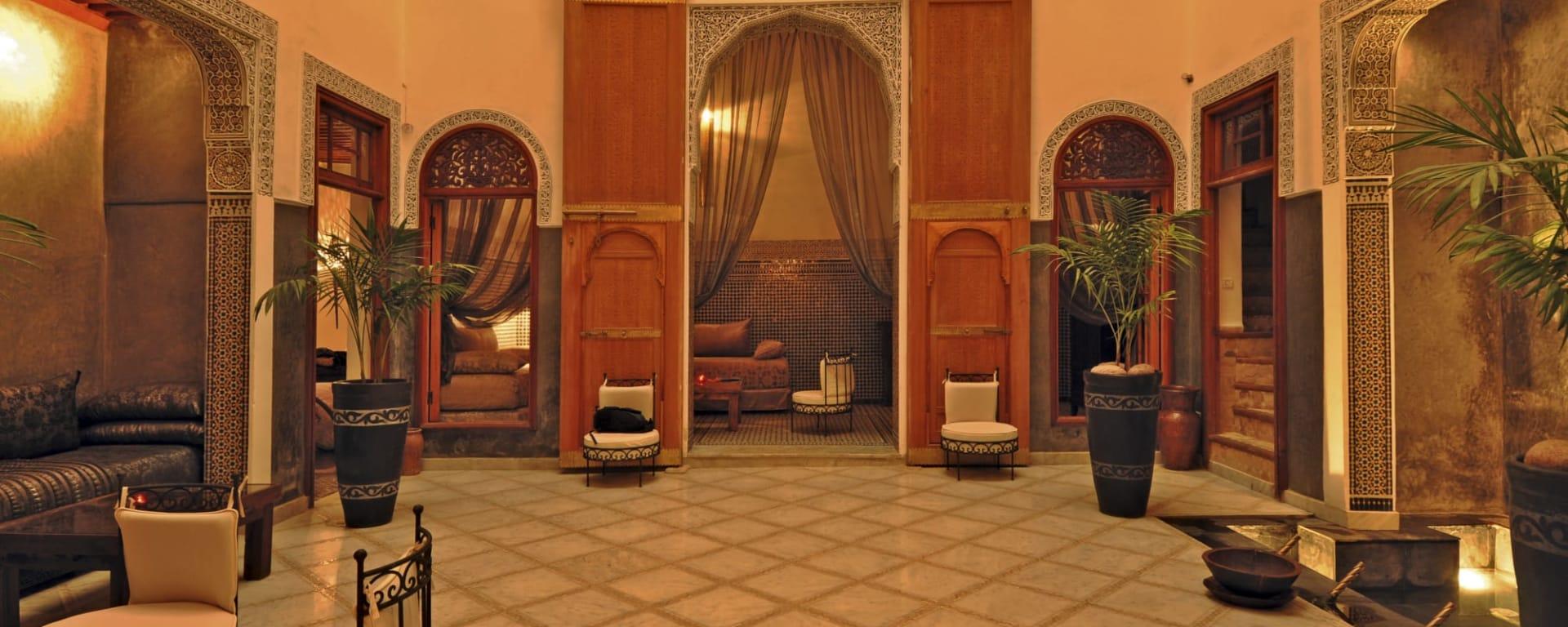 Riad Layla in Fès: Marokko Riad Layla Lobby