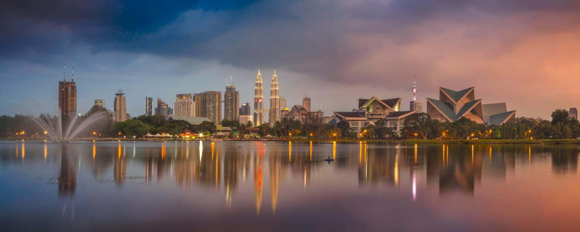 Stadtrundfahrt Kuala Lumpur, EN, Halbtägig: Malaysia Kuala Lumpur Stadtpanorama