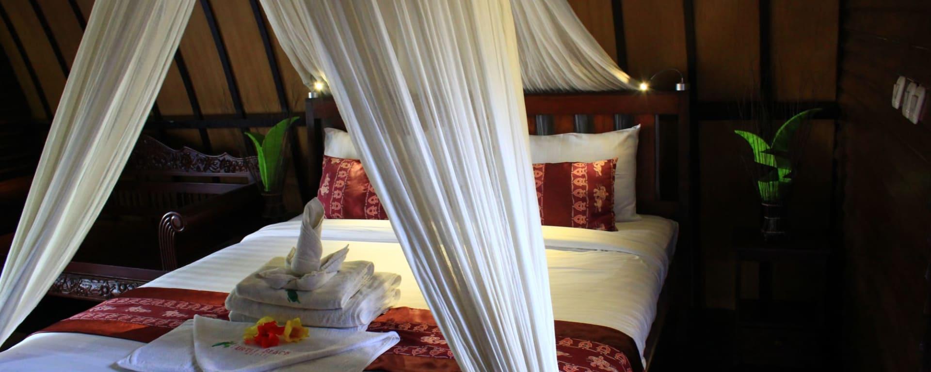 Turtle Beach Hotel in Gili: Gili Air Turtle Beach Beach Zimmer