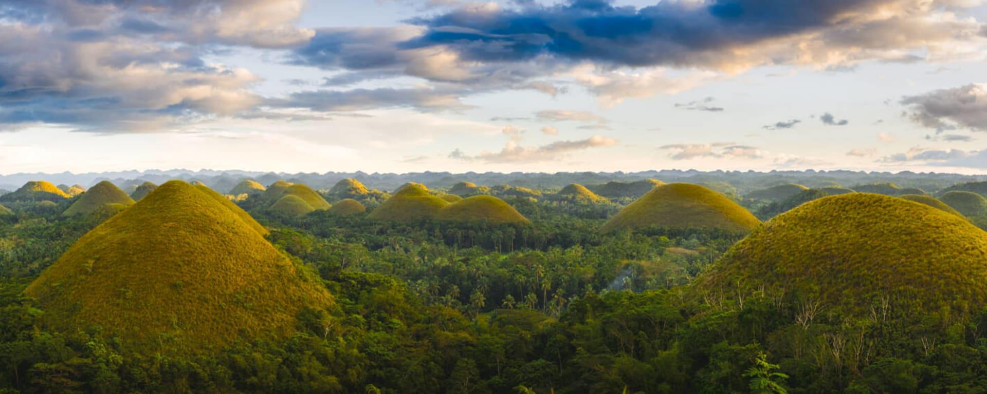 Philippinen entdecken mit Tischler Reisen: Philippinen Bohol Chocolate Hills Panorama