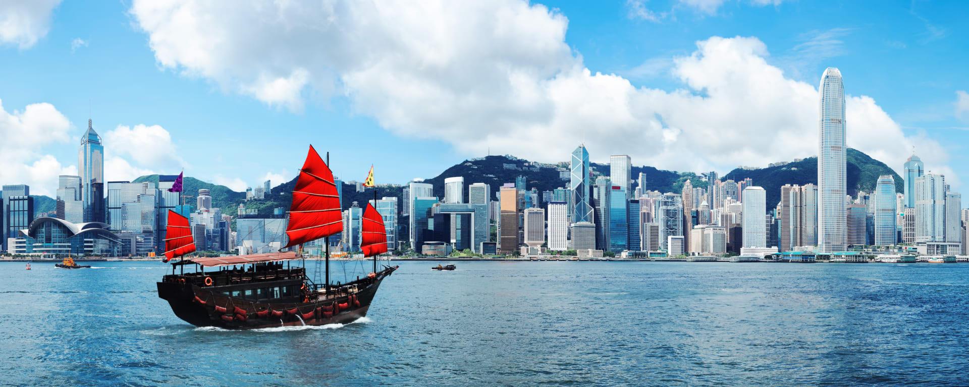 Hong Kong entdecken mit Tischler Reisen: Hong Kong Island Skyline