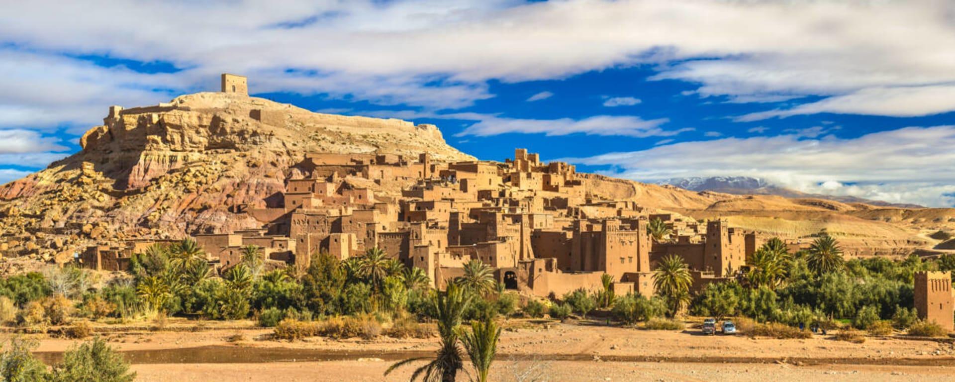 Marokko entdecken mit Tischler Reisen: Marokko Ait Benhaddou Panorama