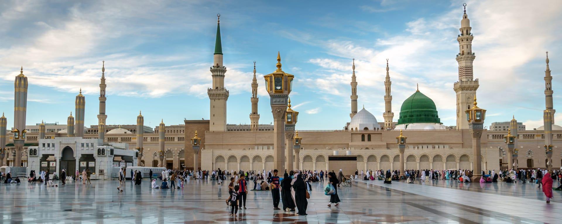 Saudi Arabien entdecken mit Tischler Reisen: Saudi Arabien Medina Nabawi Moschee