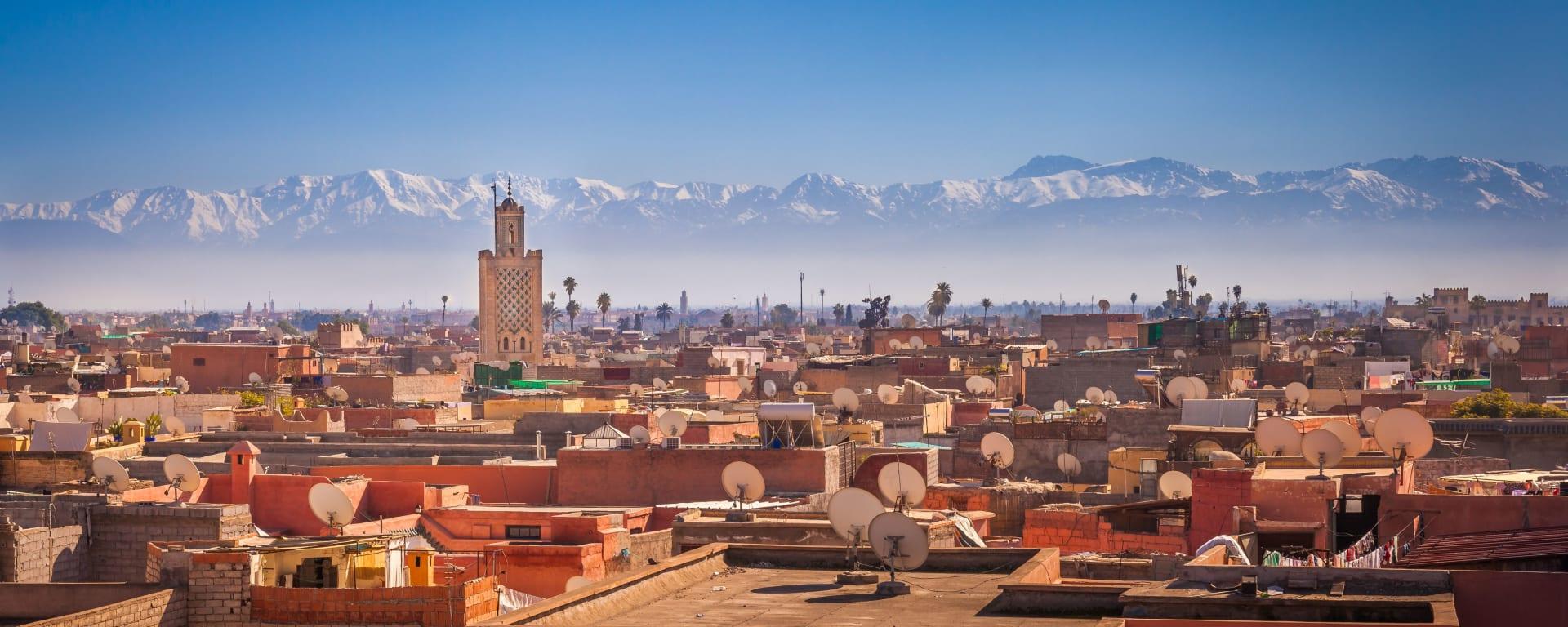 Marokko entdecken mit Tischler Reisen: Marokko Marrakesch Panorama