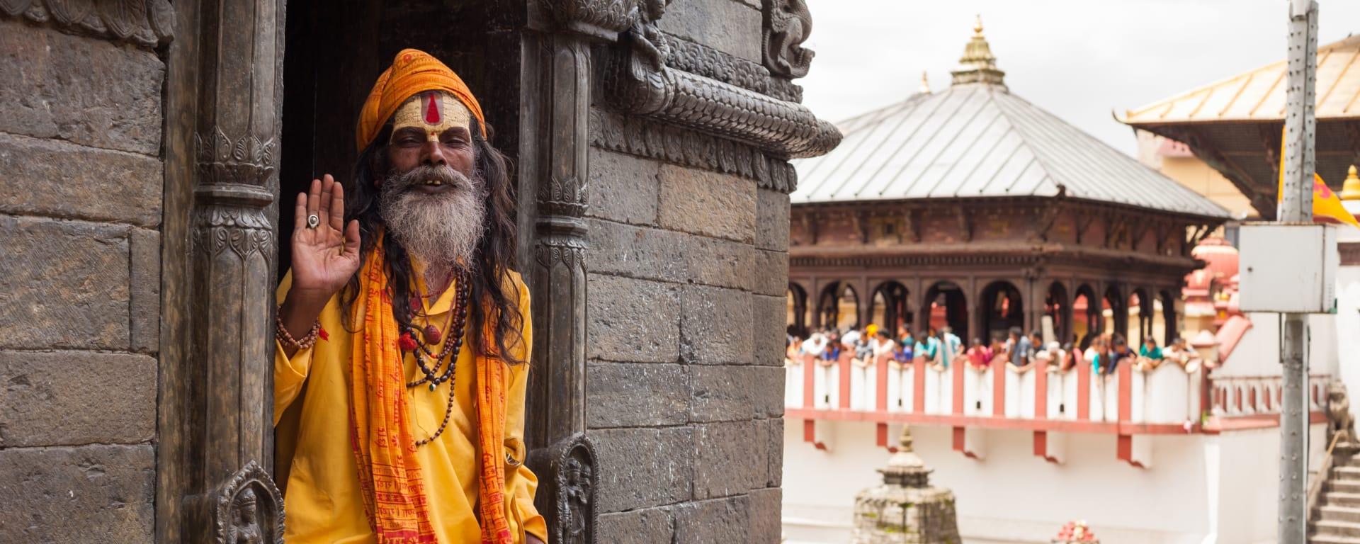 Nepal entdecken mit Tischler Reisen: Nepal Sadhu Pashupatinath