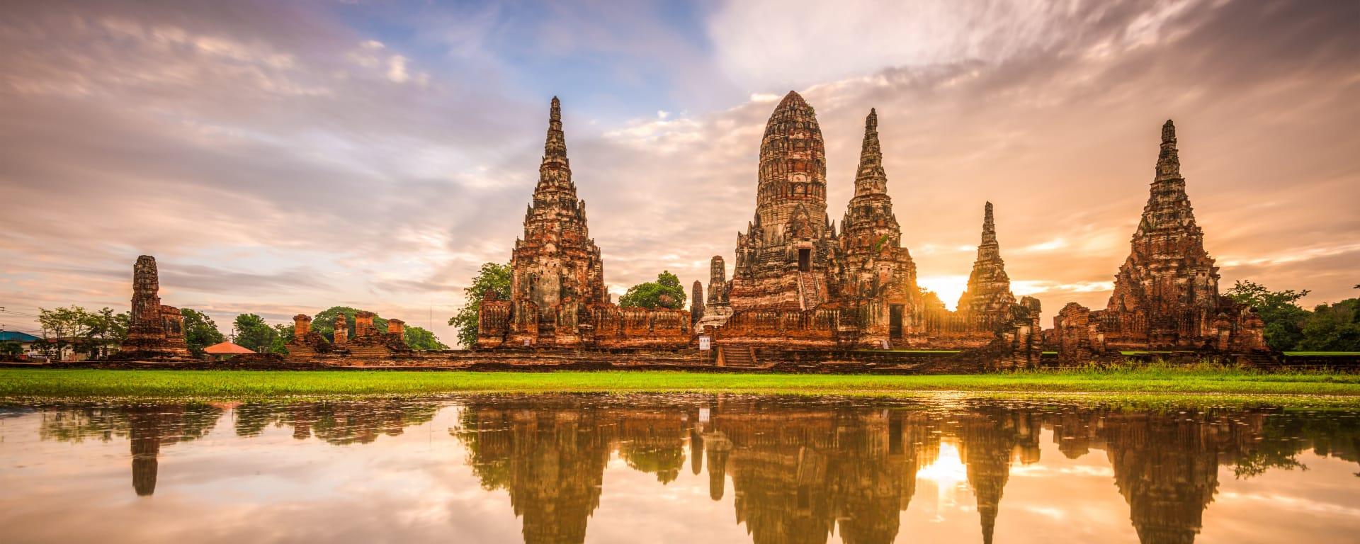 Thailand entdecken mit Tischler Reisen: Thailand Ayutthaya Wat Chaiwatthanaram