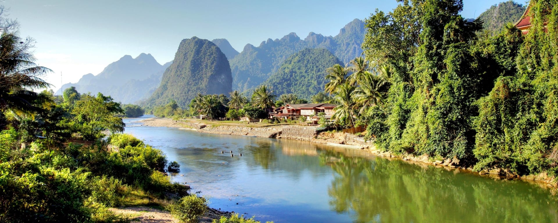 Laos entdecken mit Tischler Reisen: Laos Vang Vieng Song River