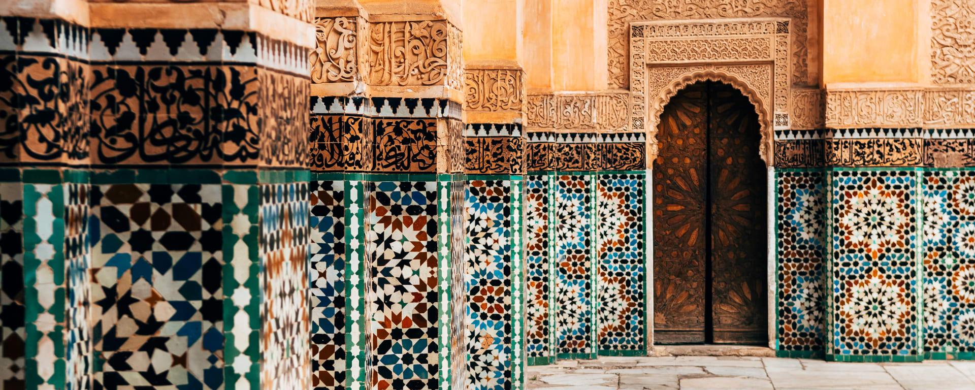 Marokko entdecken mit Tischler Reisen: Marokko Ornamente Innenhof