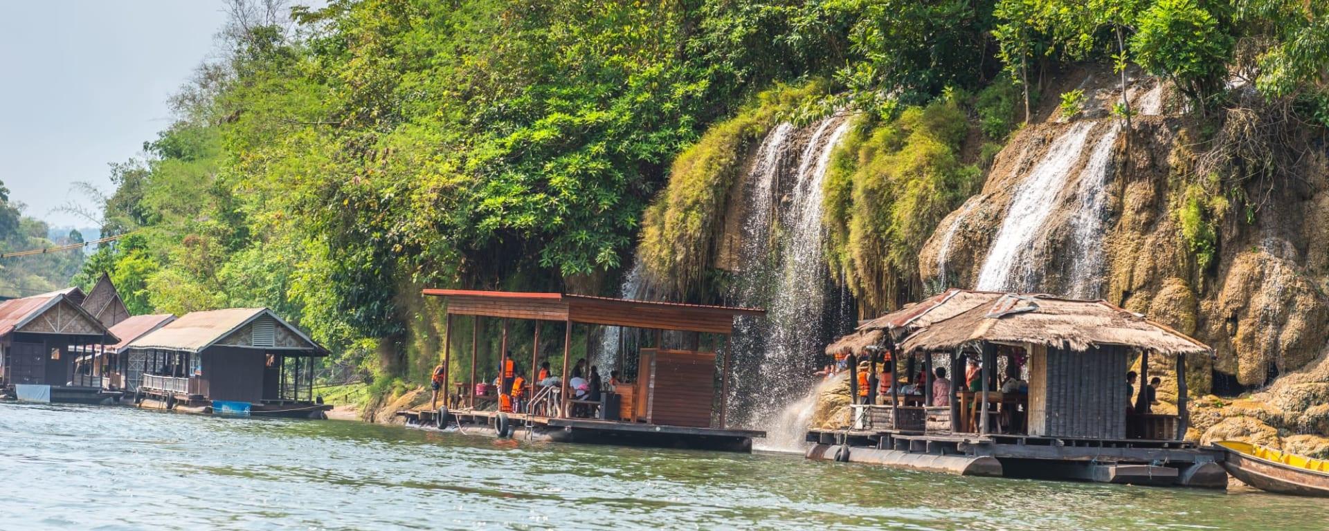Soft Adventure River Kwai ab Bangkok: Thailand Kanchanaburi River Kwai