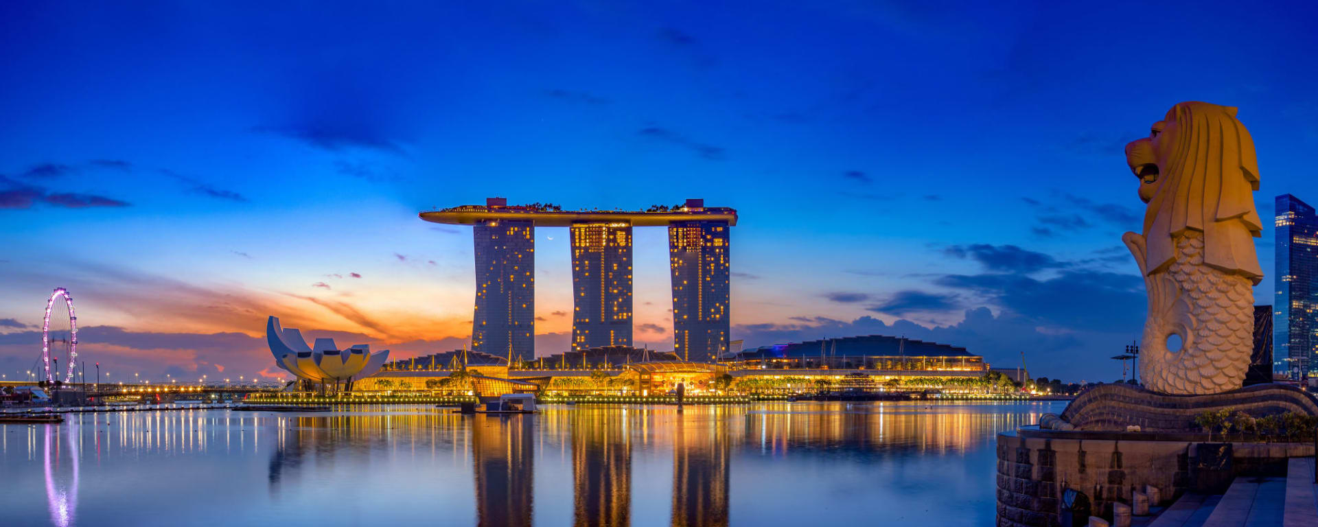 Singapur bei Nacht, EN, Halbtägig: Singapur Marina Bay bei Nacht