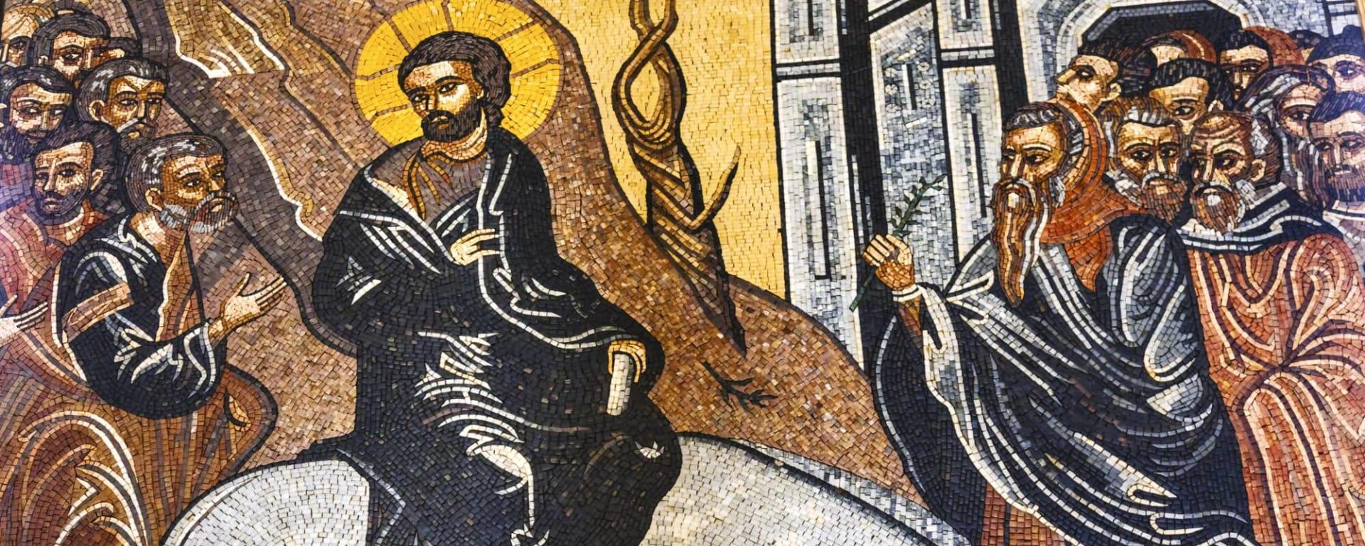 Jordanien entdecken mit Tischler Reisen: Jordanien Madaba Mosaik St Georges Church