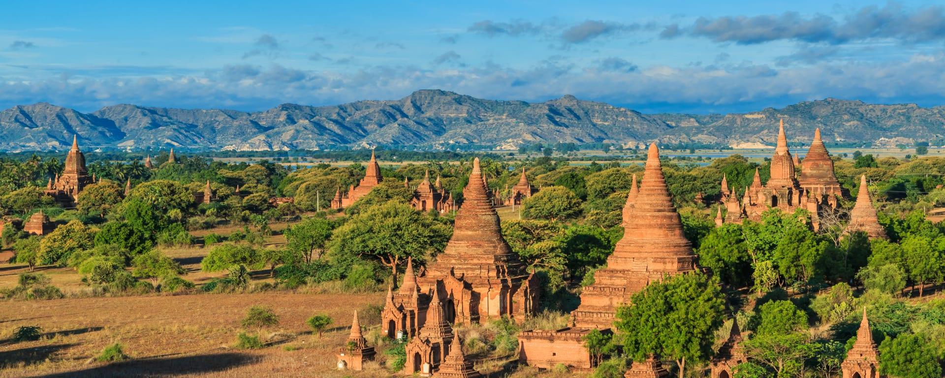 Myanmar entdecken mit Tischler Reisen: Myanmar Bagan Panorama