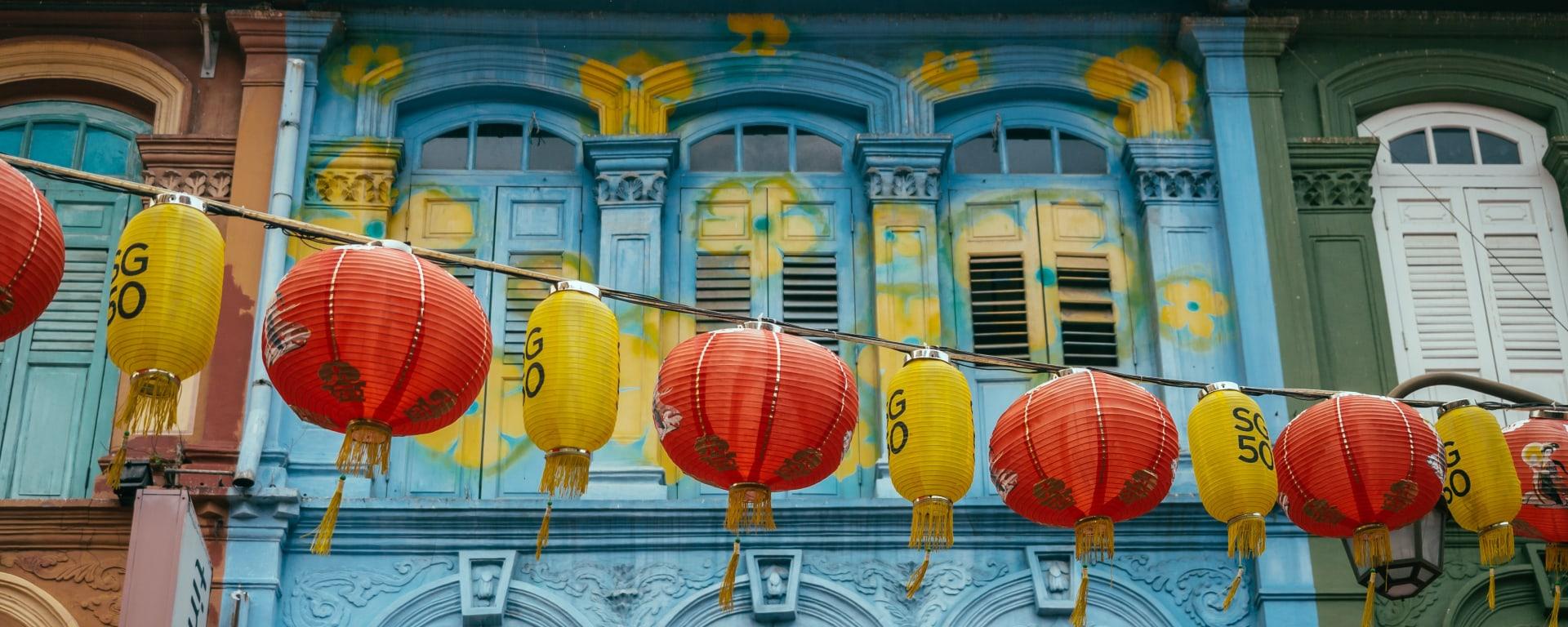 Singapur entdecken mit Tischler Reisen: Singapur Chinatown Fassade