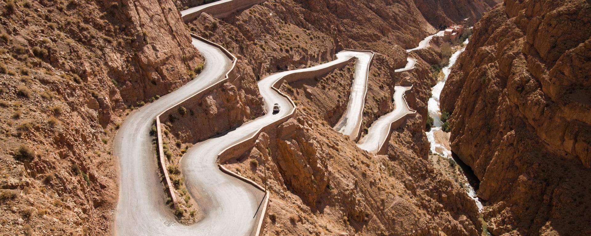 Auf den Straßen und Pisten des Königreichs ab Marrakesch: Dades-Schlucht