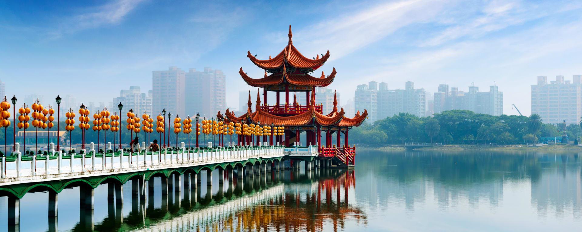 Taiwan entdecken mit Tischler Reisen: Taiwan Kaohsiung Stadtansicht