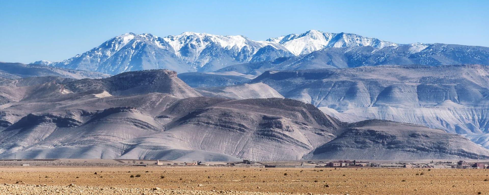 Marokko entdecken mit Tischler Reisen: Marokko Atlasgebirge Panorama