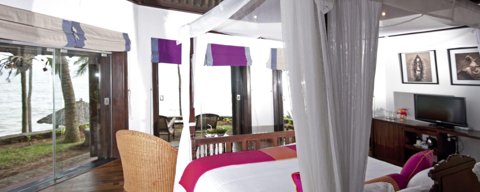 Niraamaya Retreats Surya Samudra in Kerala | Malabarküste | Kochi: Niraamaya Retreats Surya Samudra Rock Garten Zimmer